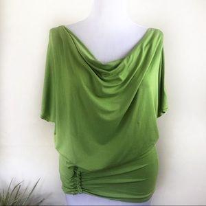 Max Studio Green Cowl Neck Blouse